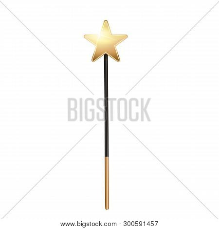 Creative Vector Illustration Of Miracle Magical Stick With Sparkle Isolated On Transparent Backgroun