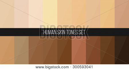 Creative Vector Illustration Of Human Skin Tone Color Palette Set Isolated On Transparent Background
