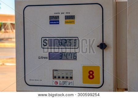 Petrol Gasoline Station Unleaded 91 95 In Australian Mining Town