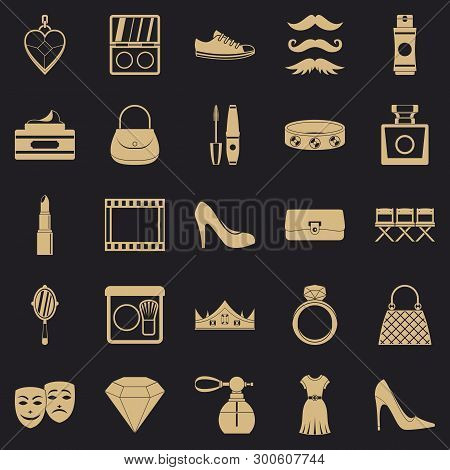 Stylist Icons Set. Simple Set Of 25 Stylist Vector Icons For Web For Any Design