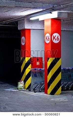 Shopping Mall Parking Lot Dark Corner