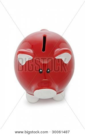 Piggy bank isolated on the white background