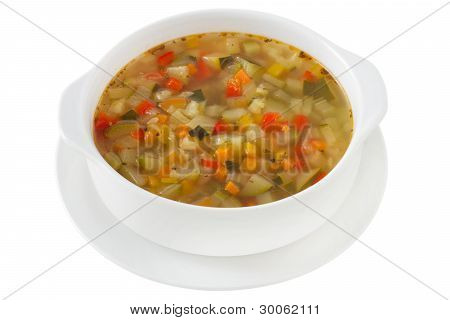 Vegetable Soup In The Bowl
