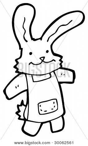 rabbit in apron cartoon