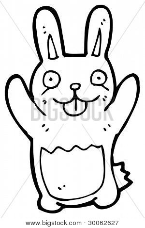 funny rabbit cartoon