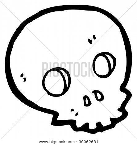 halloween skull cartoon