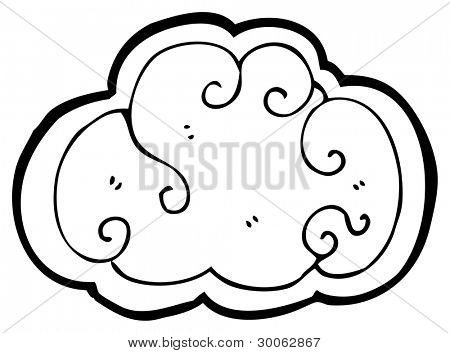 cartoon cloud design element