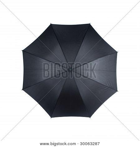 Black Umbrella Isolated On White