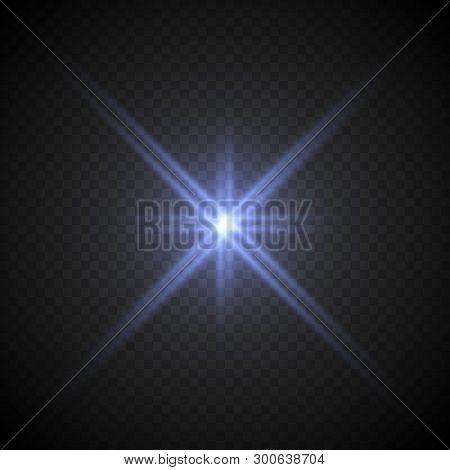 Lense Flare Light Effect On Transparent Background