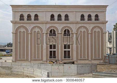 Skopje, Macedonia - September 17, 2012: Museum Of The Macedonian Struggle During Construction In Sko