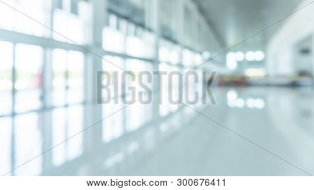 Office Building Lobby Hall Blur Background Or Blurry School Hallway Corridor Interior View Looking T