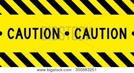Caution Tape. Yellow And Black Barricade Tape. Safety Stripes. Warning Stripes. Seamless Stripe. Vec