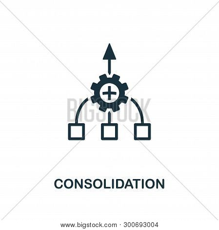 Consolidation Icon. Creative Element Design From Business Strategy Icons Collection. Pixel Perfect C