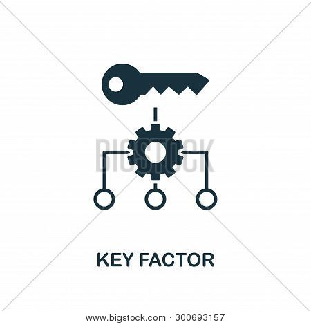 Key Factor Icon. Creative Element Design From Business Strategy Icons Collection. Pixel Perfect Key