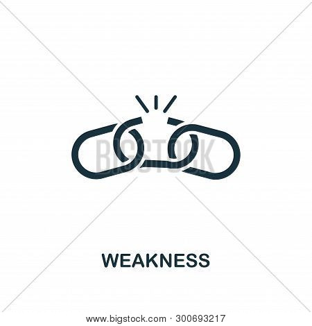 Weakness Icon. Creative Element Design From Business Strategy Icons Collection. Pixel Perfect Weakne