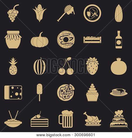 Gastronomic Pleasure Icons Set. Simple Set Of 25 Gastronomic Pleasure Vector Icons For Web For Any D