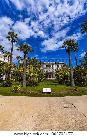 Nice, France - May 1, 2019: Villa Massena In Nice, France. It Is The Most Beautiful Villa On The Pro