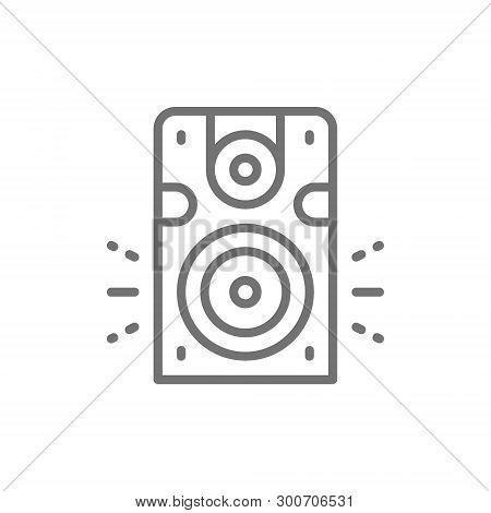 Speaker, Subwoofer, Audio Equipment Line Icon. Isolated On White Background