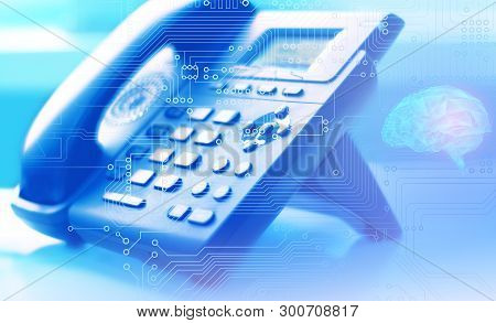 Artificial Intelligence As A Global Network Of Internet Telephony And Customer Support Worldwide Wit