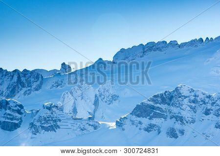 Porta Vescovo With Marmolada Glacier In The Background, Canazei, Italy