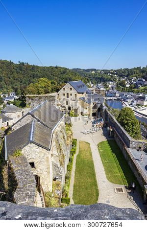Castle Of Bouillon - View From The Top Of The Austrian Tower, The Highest Point Of The Castle, At Bo