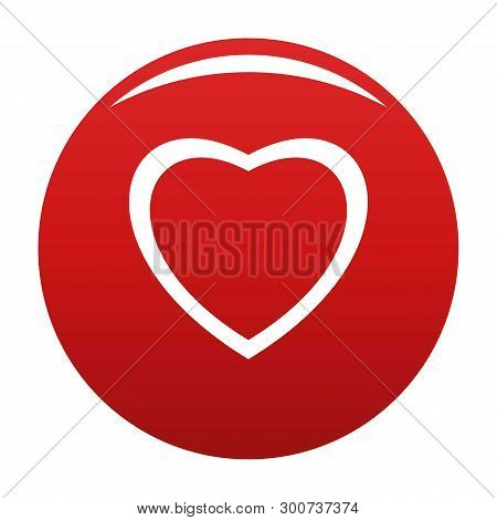 Fearless Heart Icon. Simple Illustration Of Fearless Heart Vector Icon For Any Design Red