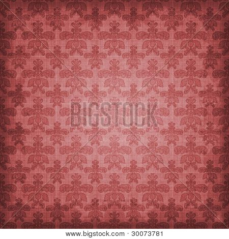 Shaded Red Damask Background Wallpaper