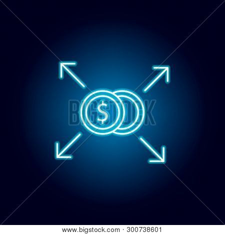 Investment Concept, Financing Balance Icon. Element Of Money Diversification Illustration. Signs And