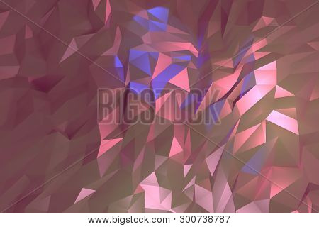 Decorative, Illustrations Cgi, Random Geometric Backdrop, For Design Texture Background. 3D Render.