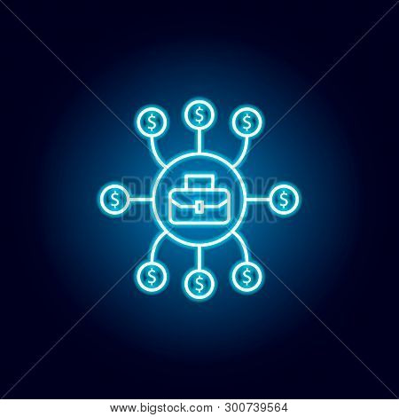 Financial Planning, Project Cost Icon. Element Of Money Diversification Illustration. Signs And Symb