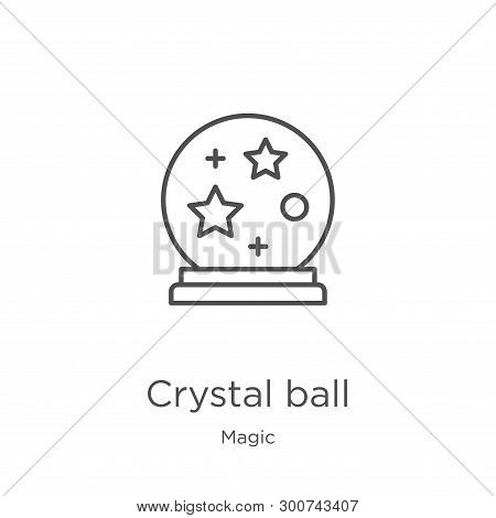 Crystal Ball Icon. Element Of Magic Collection For Mobile Concept And Web Apps Icon. Outline, Thin L