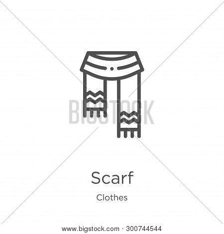 Scarf Icon. Element Of Clothes Collection For Mobile Concept And Web Apps Icon. Outline, Thin Line S