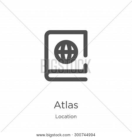 Atlas Icon. Element Of Location Collection For Mobile Concept And Web Apps Icon. Outline, Thin Line
