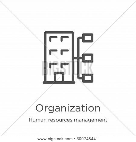 Organization Icon. Element Of Human Resources Management Collection For Mobile Concept And Web Apps