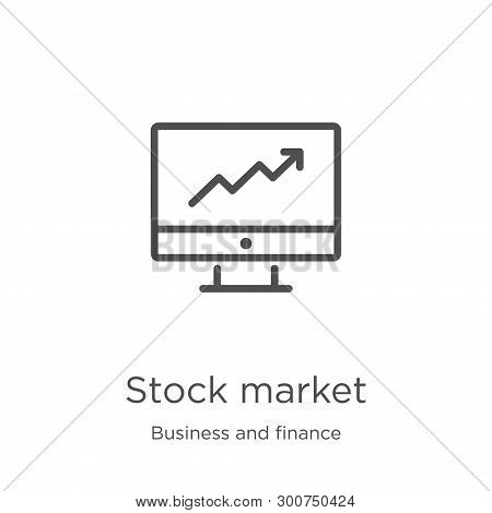 Stock Market Icon. Element Of Business And Finance Collection For Mobile Concept And Web Apps Icon.