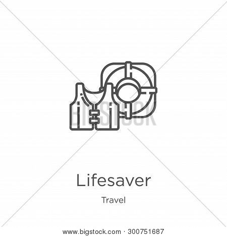 Lifesaver Icon. Element Of Travel Collection For Mobile Concept And Web Apps Icon. Outline, Thin Lin