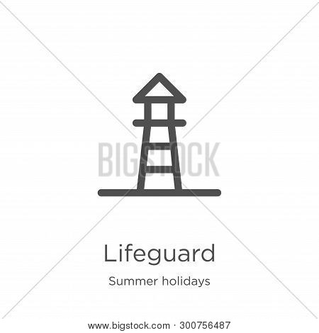Lifeguard Icon. Element Of Summer Holidays Collection For Mobile Concept And Web Apps Icon. Outline,