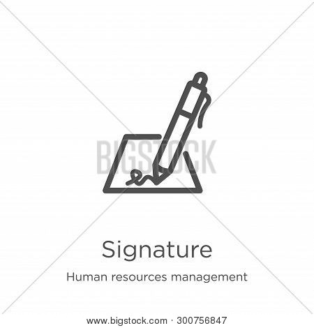 signature icon. Element of human resources management collection for mobile concept and web apps ico