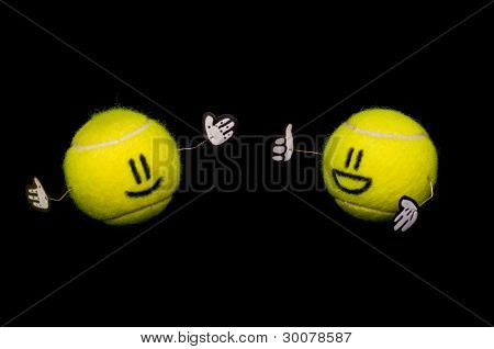 Two Tennis Balls Talking