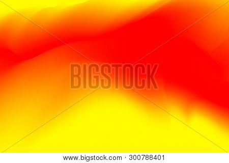 Blurred Red And Yellow Pastel Colors Soft Wave Colorful Effect For Background Abstract, Illustration