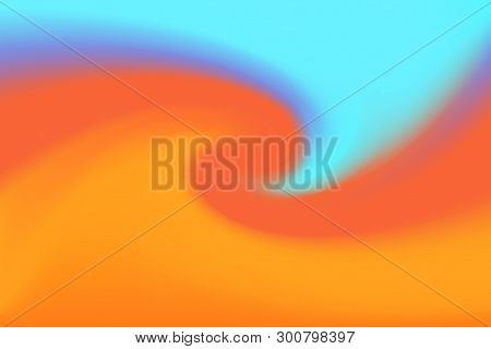 Blurred Blue And Brown Colors Twist Wave Colorful Effect For Background, Illustration Gradient In Wa