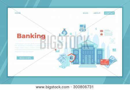 Banking, Bank Building, Financial Service. Money Exchange,  Transfer, Payment, Accounts Operation. B