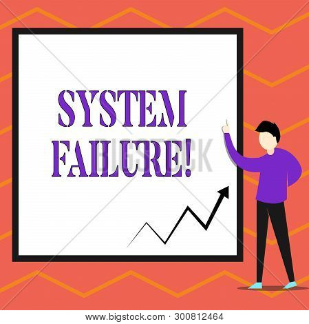 Writing Note Showing System Failure. Business Photo Showcasing Occur Because Of A Hardware Failure O