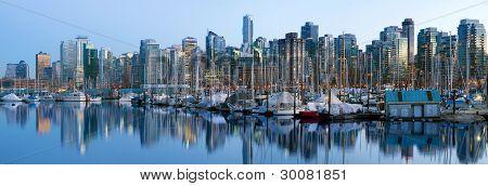 Vancouver Bc Skyline Along False Creek