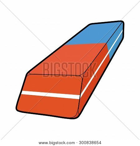 Illustration Of A Rubber Eraser For Pencil And Pen On A White Background