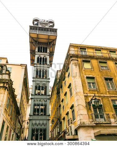 Santa Justa Lift, Near The Carmo District, Lisbon