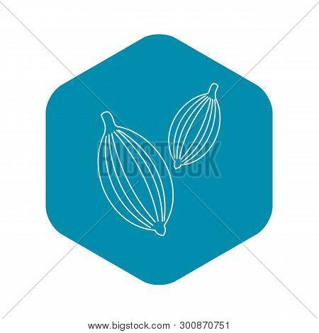 Cardamom Icon. Outline Illustration Of Cardamom Vector Icon For Web