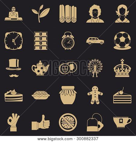 Char Icons Set. Simple Set Of 25 Char Vector Icons For Web For Any Design
