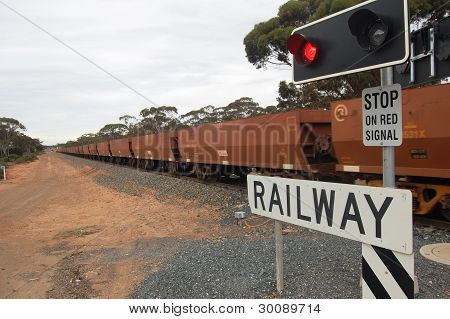 Train Crossing Highway
