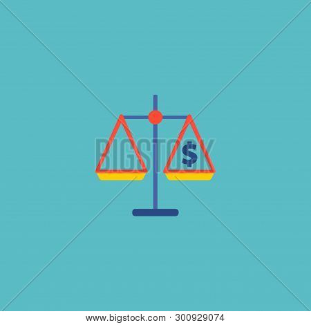Analyzing Icon Flat Element. Vector Illustration Of Analyzing Icon Flat Isolated On Clean Background